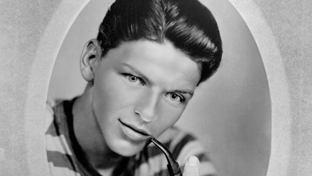 Young Sinatra With A Pipe