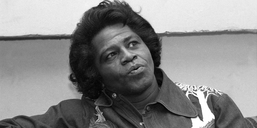 James Brown during Daily News interview before performing.
