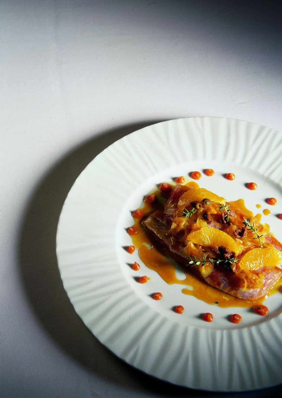 барабулька, приготовленная в ресторане jean luc figueras._redtalk